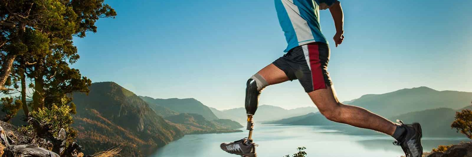 Active Runner with Prosthetic Leg